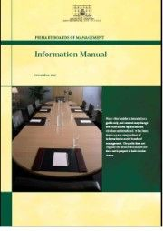 Primary Boards of Management - Information Manual